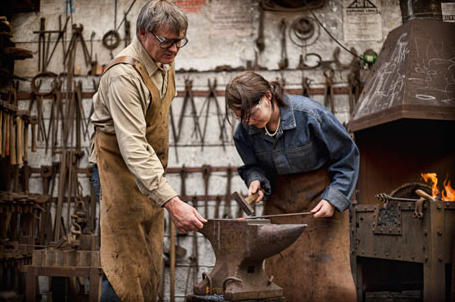 Teaching Black Smithing